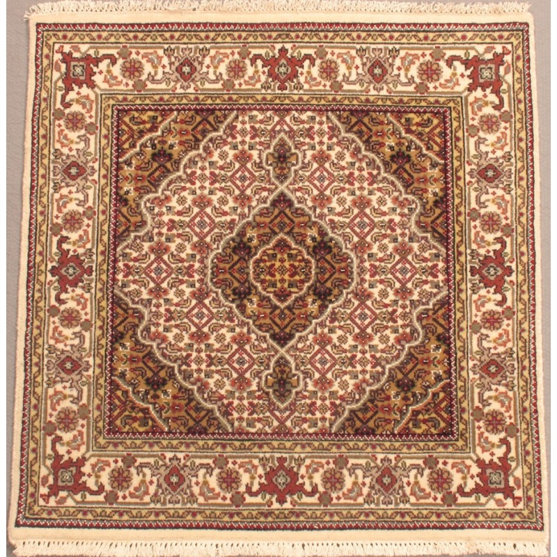 Tabriz wool rug size 3 1 x 3 1 for Home inspired by india rug