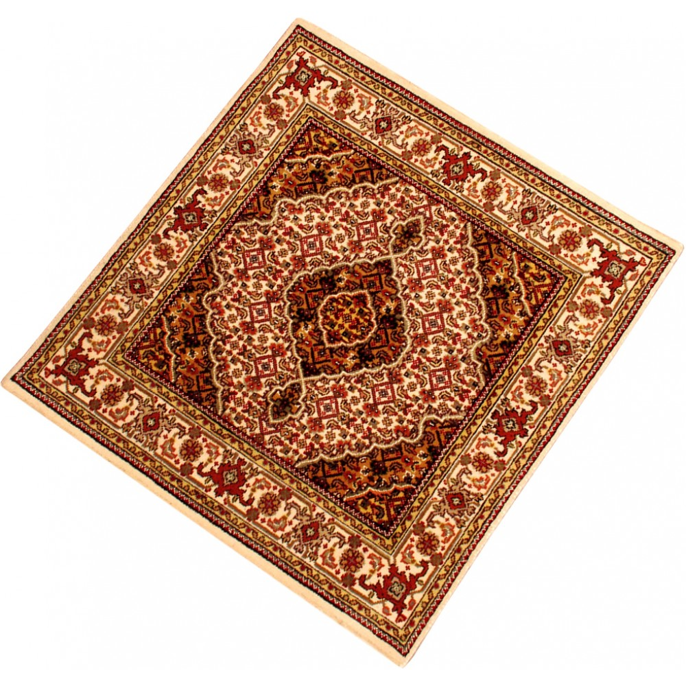 """Size 3' 1"""" X 3' 1"""" Tabriz Wool Rug From India"""