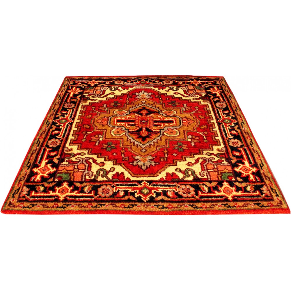 Size 3 1 x 3 1 serapi wool rug from india for Home inspired by india rug