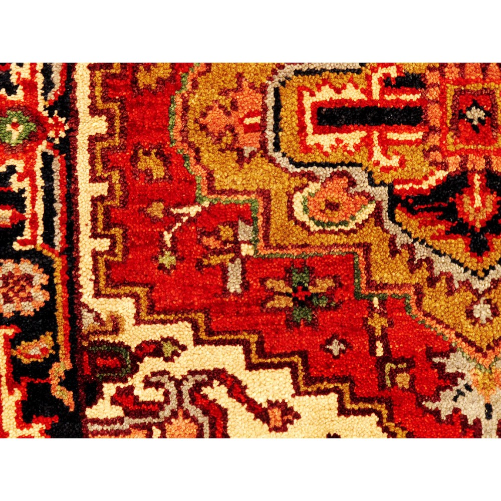 "Wool Rugs Made In India: Size 3' 1"" X 3' 1"" Serapi Wool Rug From India"