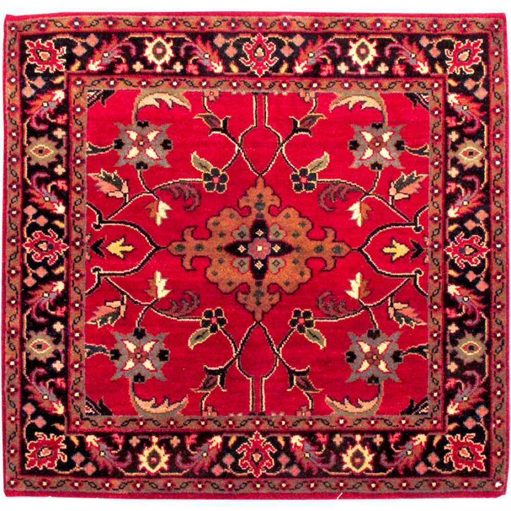 Rugs Made In India For Sale: Size 3' X 3' Marand Wool Rug From India
